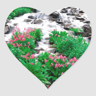 Water Indian Peaks Wilderness Roosevelt Heart Sticker