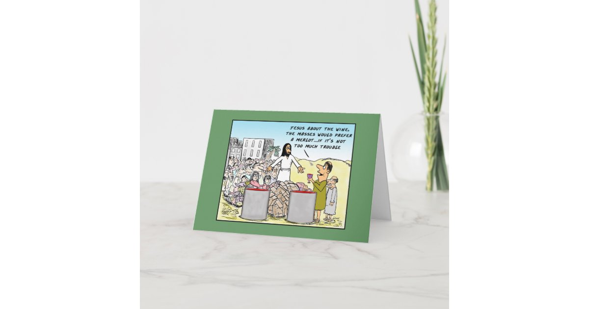 Water Into Wine Birthday Card