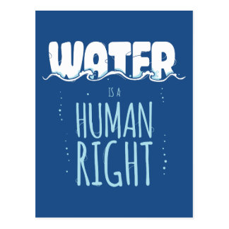 Water is a Human Right Postcard