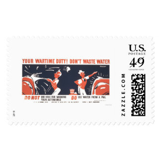 Water Is Important WWII 1942 WPA Postage