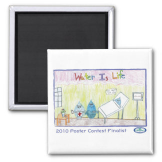 Water Is Life 2 Inch Square Magnet