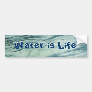 Water is Life Bumper Sticker Car Bumper Sticker
