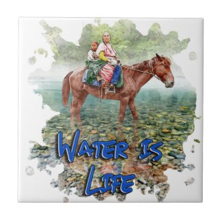 Water is Life Ceramic Tile