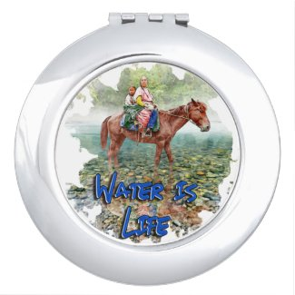 Water is Life Compact Mirror