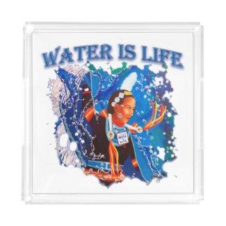 Water is Life - Fancy Shawl Dancer Acrylic Tray
