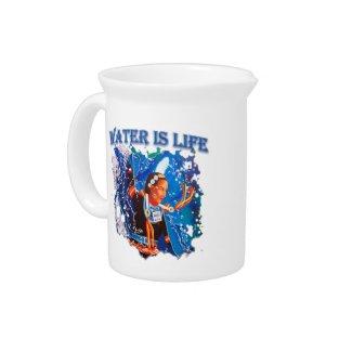 Water is Life - Fancy Shawl Dancer Beverage Pitcher