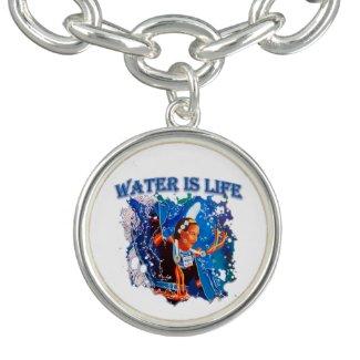 Water is Life - Fancy Shawl Dancer Bracelet