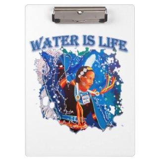 Water is Life - Fancy Shawl Dancer Clipboard