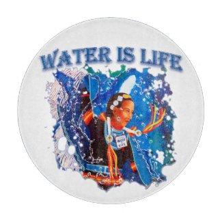 Water is Life - Fancy Shawl Dancer Cutting Board