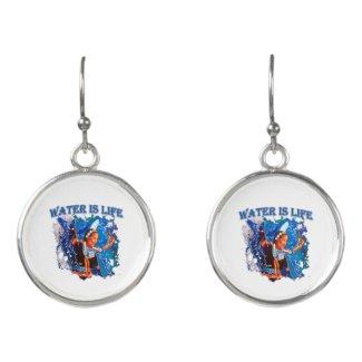 Water is Life - Fancy Shawl Dancer Earrings