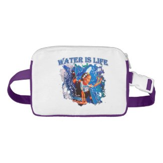 Water is Life - Fancy Shawl Dancer Fanny Pack