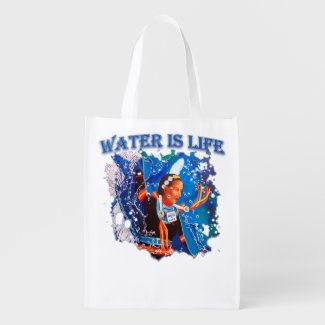 Water is Life - Fancy Shawl Dancer Grocery Bag