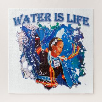 Water is Life - Fancy Shawl Dancer Jigsaw Puzzle
