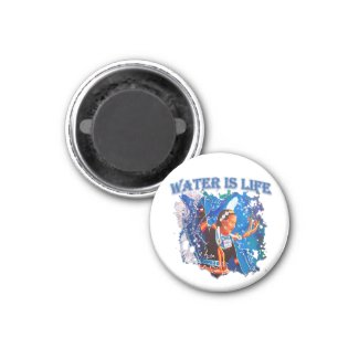 Water is Life - Fancy Shawl Dancer Magnet