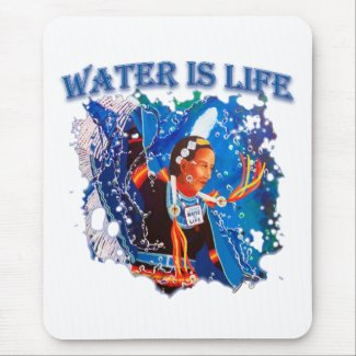 Water is Life - Fancy Shawl Dancer Mouse Pad