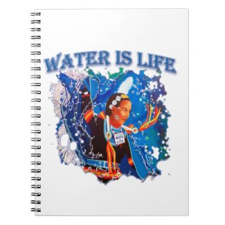 Water is Life - Fancy Shawl Dancer Notebook