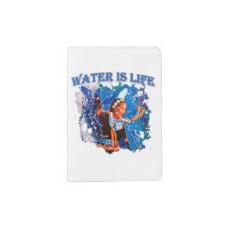 Water is Life - Fancy Shawl Dancer Passport Holder