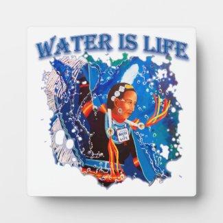 Water is Life - Fancy Shawl Dancer Plaque
