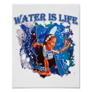 Water is Life - Fancy Shawl Dancer Poster