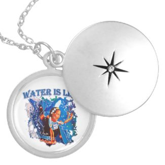Water is Life - Fancy Shawl Dancer Silver Plated Necklace