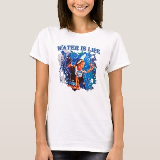 Water is Life - Fancy Shawl Dancer T-Shirt