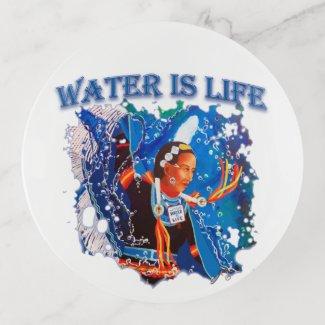 Water is Life - Fancy Shawl Dancer Trinket Trays