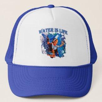 Water is Life - Fancy Shawl Dancer Trucker Hat