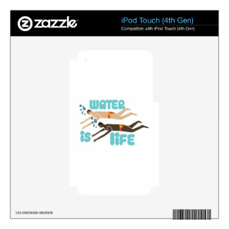 Water Is Life iPod Touch 4G Skin