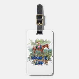 Water is Life Luggage Tag