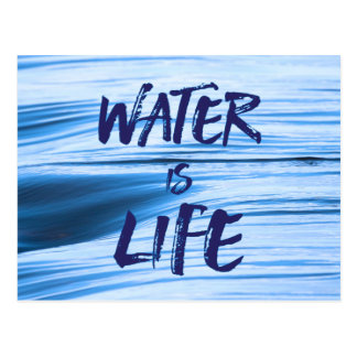 Water is life. No DAPL, Keystone XL, coal ash Postcard