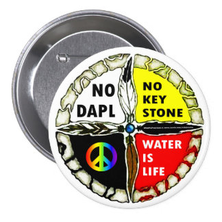 Water is Life - No Pipelines Button