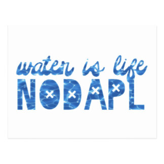 Water Is Life NODAPL Postcard