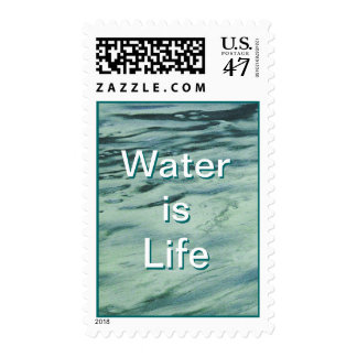 Water is Life Postage Stamps