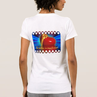 Water is My Friend Red Heart Gold Ribbon Inspire Tees