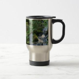 Water Japanese Garden Falls Travel Mug