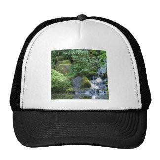 Water Japanese Garden Falls Trucker Hat