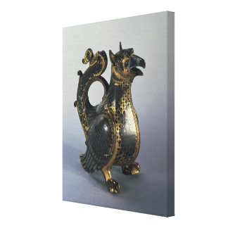 Water jug in the shapeof a griffin canvas print