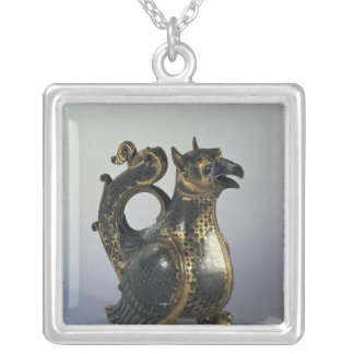 Water jug in the shapeof a griffin silver plated necklace