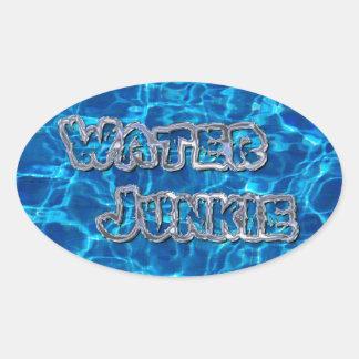 Water Junkie 3 Oval Sticker