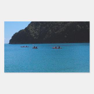 Water Kayaking Experience Rectangular Sticker