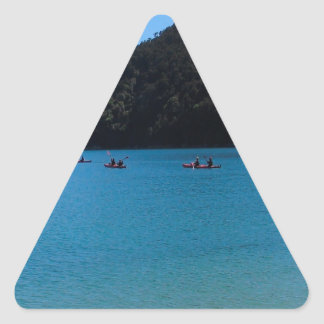 Water Kayaking Experience Triangle Sticker