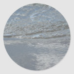 Water Lapping on the Beach Abstract Photography Classic Round Sticker