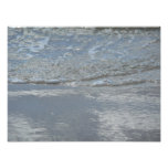 Water Lapping on the Beach Abstract Photography Photo Print