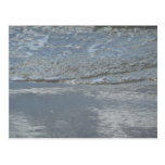 Water Lapping on the Beach Abstract Photography Postcard