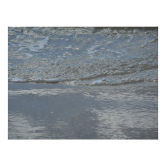 Water Lapping on the Beach Abstract Photography Poster