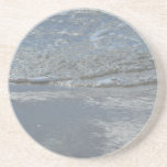 Water Lapping on the Beach Abstract Photography Sandstone Coaster