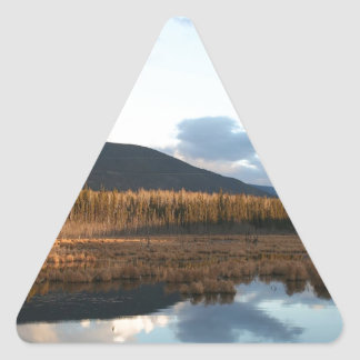 Water Last Sunset Before Snow Triangle Sticker