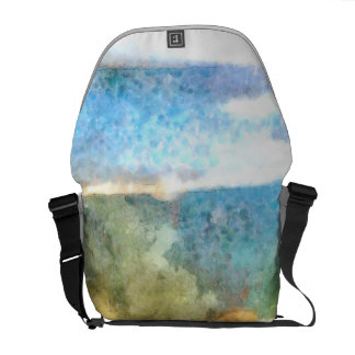 Water level in an aquarium messenger bag