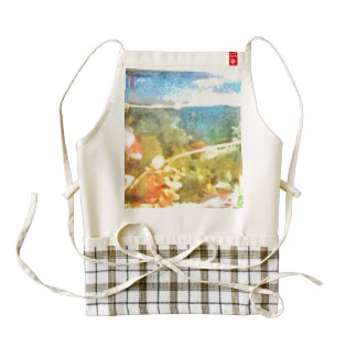 Water level in an aquarium zazzle HEART apron