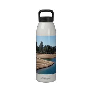 Water Levels on Bank at Boca Reservoir Reusable Water Bottle